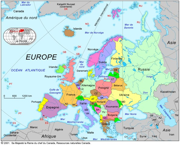Europe : carte de lEurope, toutes les destinations. photos ...